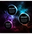 Three planets vector image