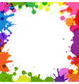 Frame With Color Blobs vector image