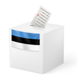 Ballot box with voting paper Estonia vector image