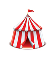 circus tent isolated vector image
