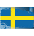 sweden national flag vector image