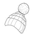 winter cap vector image