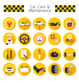 Car Care and Maintenance Objects icons Set vector image