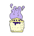 comic cartoon blueberry pie vector image