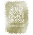 Snowflake gift bag on elegant background EPS 8 vector image vector image