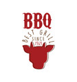 bbq best grill since 1969 logo template hand drawn vector image