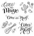 Cinco de mayo phrases vector image