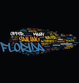 Enjoyable water adventure in florida text vector image
