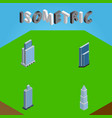 isometric skyscraper set of residential business vector image