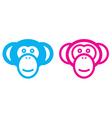 monkey couple vector image