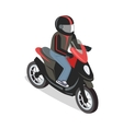 Scooter Rider in Isometric Projection vector image