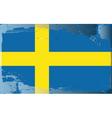 sweden national flag vector image