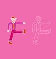walking businessman vector image