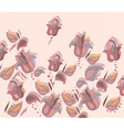 Magnolia flower background vector image