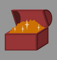flat icon on stylish background treasure chest vector image
