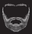 beard mustache eyebrows vector image vector image