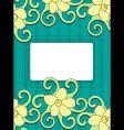 floral frame retro background vector image