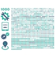 1000 tools gears smiles map markers mobile vector image