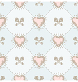 Seamless background with hearts and keys vector image vector image