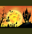 backgroundfestival halloweenfull moon on dark nigh vector image