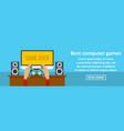 best computer games banner horizontal concept vector image