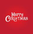 christmas logo vector image