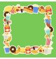 fast food frame for web menu cafe and restaurant vector image