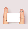 funny fingers mockup vector image