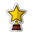 golden star award icon vector image