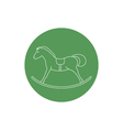 Linear Icon of a Rocking Horse vector image
