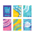 posters card witch color abstract backgrounds set vector image