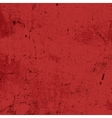 Red Messy Grunge Texture vector image