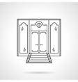 Store front door flat line icon vector image