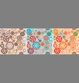 clock cogwheels pattern set vector image vector image