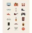 hipster style set collection isolated icons vector image