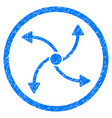 swirl direction rounded grainy icon vector image