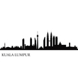 Kuala Lumpur silhouette vector image vector image
