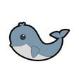 Whale cute cartoon vector image