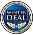 winter deal icon vector image vector image