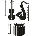 Music tool black 01 vector image