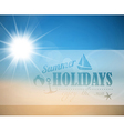 abstract summer poster vector image