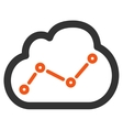 Analytics icon from Business Bicolor Set vector image