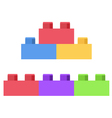 Plastic building block - toy construction set vector image