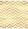 Geometric golden chevron seamless pattern vector image