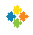 puzzle color on white background vector image