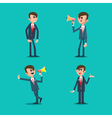Angry Boss Director Shouting in Megaphone vector image