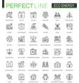 eco energy thin line web icons set renewable vector image