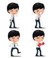 Man Worker Action Emotion Set vector image