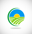 nature farm logo vector image