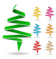 origami trees vector image